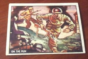 1950 Topps Freedoms War Trading Card #161 On the Run