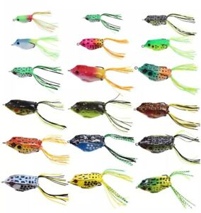 18PCS Fishing Lures Metal Spinner Baits Bass Tackle Crankbait Top Water Frogs