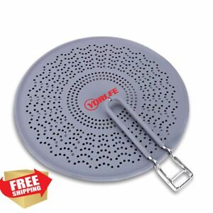 Silicone Splatter Screen Pan Cover with Folding Handle Heat Resistant Grey 11
