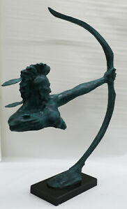 Museum Quality Classic Artwork Limited Edition by Mario Nick Indian Chief Bronze