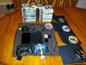 Sony Playstation 2 Slim SCPH-90001 Huge lot 34 games +extras +no reserve