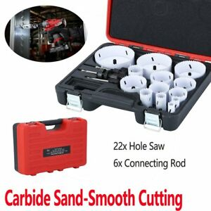 28-Piece All Purpose Professional Hole Cutter Carbide Sand Hole Saw Kit xr