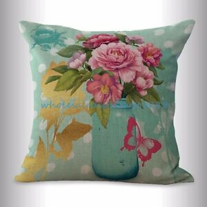 English retro flower cushion cover throw pillow cover cheap $14.99