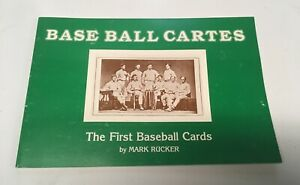 Rare Vintage Baseball Cartes First Cards Book Mark Rucker Early Antique