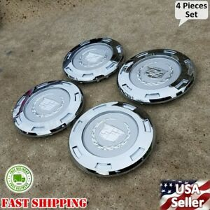 4 PCS NEW SET CADILLAC ESCALADE 2007 2015 PLAIN CREST CENTER CAP 22 RIM 9596649
