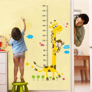 Removable Giraffe Kids Height Charts Wall Sticker Growth Chart Decals Decor