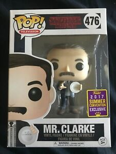 Funko Pop Stranger Things Mr. Clarke 2017 Summer Convention + pop protector
