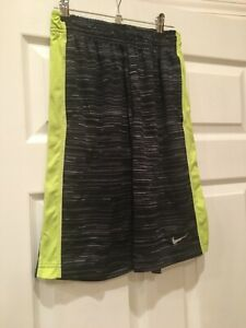 NIKE DRY-FIT  Boys Shorts Graygreen Size Large Popular Very Nice Condition!
