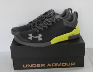 UNDER ARMOUR CHARGED LEGEND MEN'S SHOES SIZE 11.5 BLACKLIME GREEN