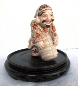 Antique DAIKOKUTEN MORIAGE Ceramic Japanese DEITY Figure FORTUNE Satsuma 1900