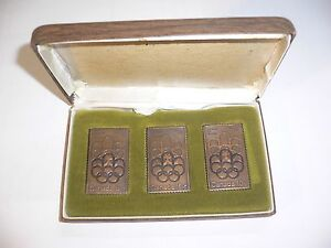 1976 OLYMPIC GAMES MONTREAL CANADA Canada Post Bronze Stamp Sculpture Set