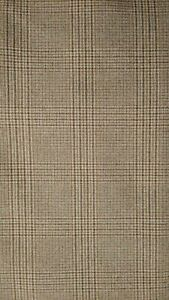 Plaid Wool Sewing Craft Suit Fabric 60quot; X 55quot; Made in England HR $8.49