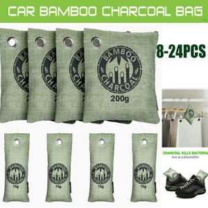 24Pack Bamboo Charcoal Activated Carbon Air Freshener Bag Car Purifier Deodorant
