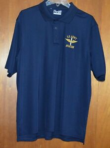 US ARMY AVIATION UNDER ARMOUR HEAT GEAR Men's Large Short Sleeve Golf Polo Shirt
