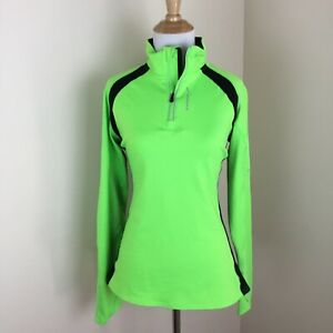 Brooks Women's Long Sleeve 14 zip Pull Over Running Shirt Thumb Holes Medium