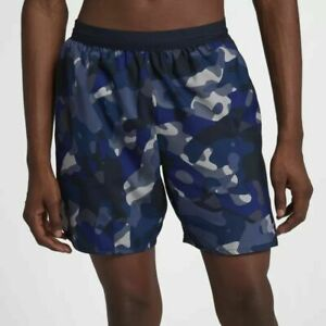 "NIKE DISTANCE 7"" RUNNING SHORTS W LINER  MENS SIZE L LARGE  AH0031 475"