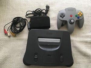 Nintendo 64 N64 Game Console System + Controller Cords WORKING play US