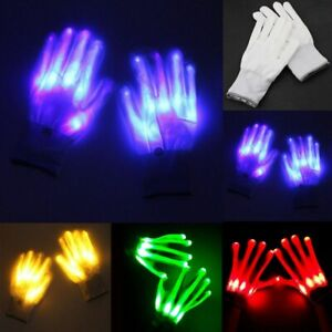 Rave Party Light Up Lighting LED Flashing Gloves Costume Cosplay Halloween Xmas
