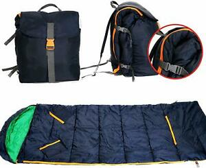 Kids Sleeping Bag and Backpack Combo Camping Gear Travel Kids Trip Accessories