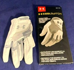 Under Armour Men's CoolSwitch Golf Glove White Steel Right Hand XX-Large
