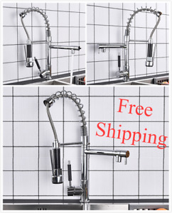 Double Madison Kitchen Faucet with Sprayer and Soap Dispenser Spout Hot Water