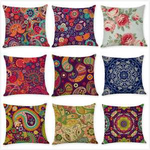 18 Sofa Bedroom Car Throw Pillow Case Paisley Decorative Cojines Cushion Cover