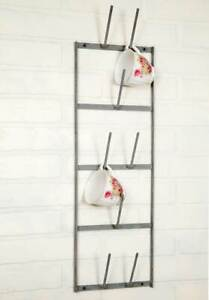 New Metal Wall Mounted Wine Bottle Cup or Drinking Glass Dryer Rack