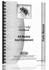 Parts Manual Gravely all Lawn & Garden Tractor