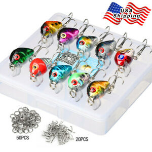 Lot 10 Pcs 2.8cm 1.7g Mixed Minnow Fishing Lures Bass Crankbait Sharp Hooks
