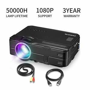 PHOOTA Mini Projector 2019 Upgraded Portable LED Video Projector with 50000 Hr