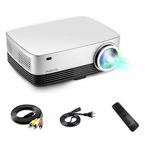 Video Projector PHOOTA 2019 Upgraded 4500 Lumens LED HD Projector with 5000:1 H