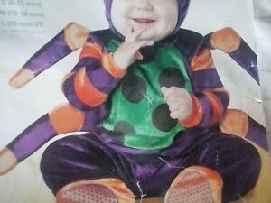 NEW Itsy bitsy spider infant halloween costume size: 18mos - 2T