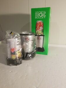Magic Bullet 3 piece blender, Silver, NEW IN BOX