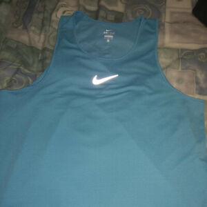Nike XL Mens Dri Fit AEROREACT Running Top $85 920783 418 Aqua Blue. Free ship $24.00