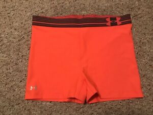 Womens Under Armour Compression Heat Gear Shorts Size Large
