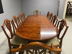 8.7ft Amazing Designer Art Deco style Burr Yew tree dining table French Polished