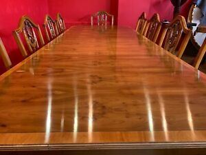 9ft Amazing Designer Art Deco style Burr Yew tree dining table French Polished