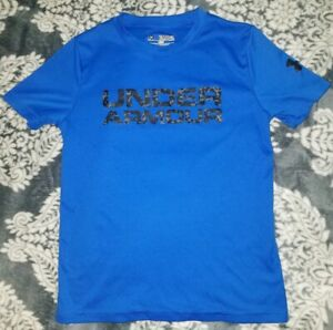 UNDER ARMOUR HEAT GEAR - BOYS ACTIVE T SHIRT - SIZE YSM YOUTH SMALL LOOSE