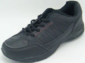 Athletic Shoes Sneakers Cross Trainer Low Rise Lace-Up Synthetic Black Unbranded