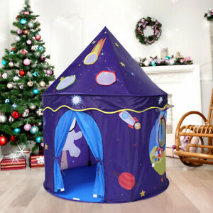 Magic Play Tent Castle Playhouse Space Theme Foldable Princess Tent Game House