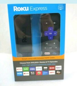 Roku Express (6th Generation) HD Media Streamer 3900RW VUDU Edition - Black