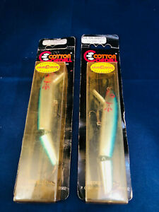 2 Vintage COTTON CORDELL fishing lure Red Fin Rattle Jointed Lot Cj 806 E5 NEW