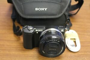 Sony Alpha a5000 20.1MP Digital Camera - Black (Kit w E PZ OSS 16-50mm Lens)