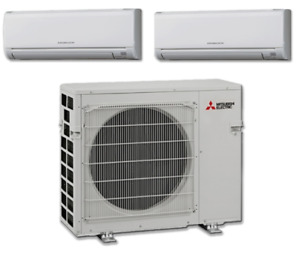 Mitsubishi Mini Split Multi 2 Zone 18 SEER Heat Pump MXZ2C20NA2U1 MSZGL06NAU1