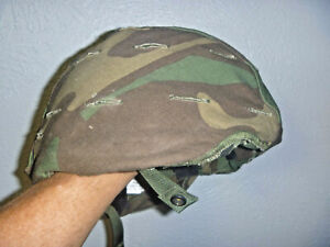 US Army PASGT Ground Troop Helmet made with Kevlar Woodland Camo Med