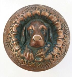 Doggie Dog Russell Erwin R&E Door Knob Rare A 10100 Emblematic 1870 MCCC Bronze