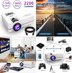 WONNIE Projector Mini Projector 2200 Lumens 170