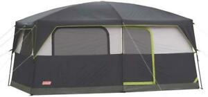 Prairie Breeze 8-9 Persons Cabin Camping Hiking Tent with Built-In LED Light Fan