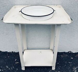 Antique~French~Wrought Iron~Washstand~Wash Basin Stand~Vanity Bath~Plant Stand
