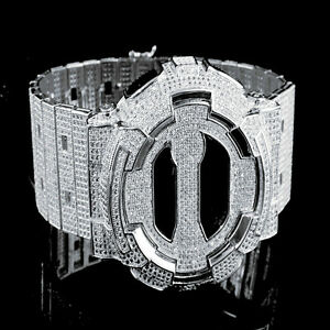14K White Gold Finish Designer G Shock Metal Band Custom Digital Watch GD100 New